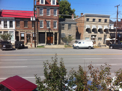 Photo of the view from 806 E. Market St.