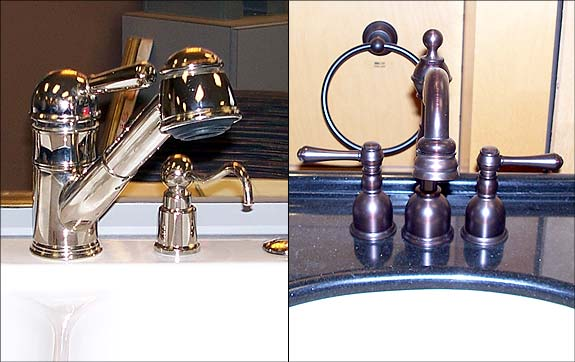 Photo of a couple of new faucet styles