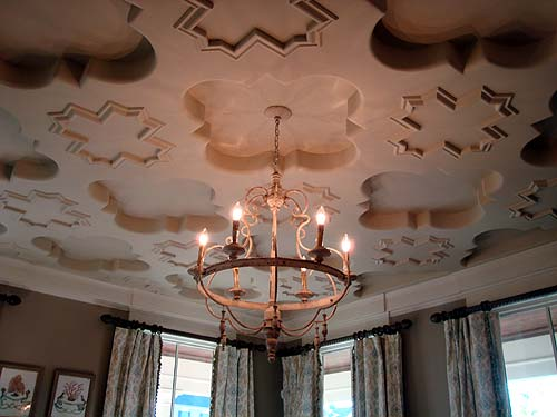 Photo of handcrafted three dimensional ceiling