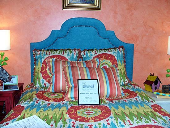 Photo from the 2011 Bellermine Show House: Apolstered headboard