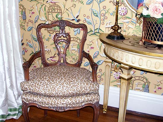 Photo from the 2011 Bellermine Show House: Leopard Side chair