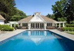 Photo of a Louisville home with a beautiful pool