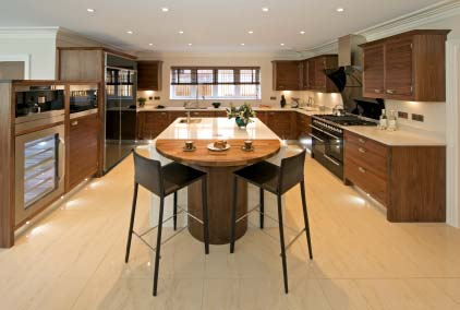 Photo of a high-end kitchen in a condo
