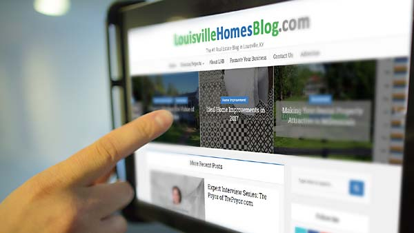 Louisville Homes Blog on your tablet, Promote Your Louisville Business