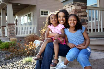 Photo of family in our Louisville home ownership rates story.