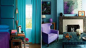 Photo of room using turquoise to make a statement