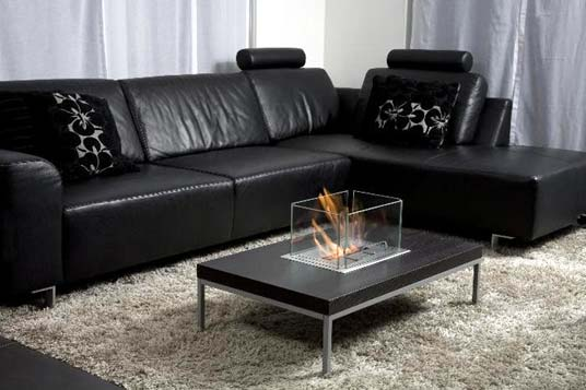 Photo of a modern fireplace