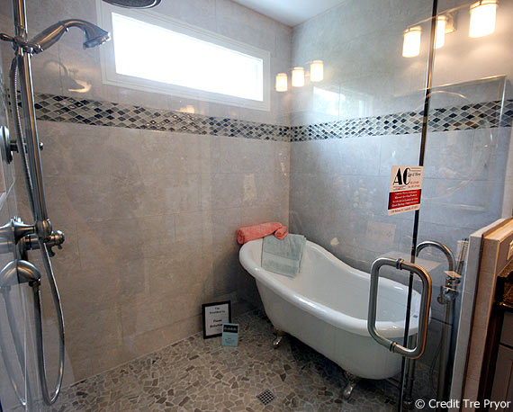 Photo of Homearama House #1 bathtub inside the shower