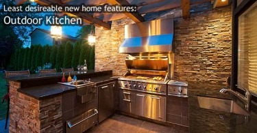 Least desirable home features: Outdoor Kitchen