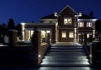 Photo of a home with amazing landscape lighting