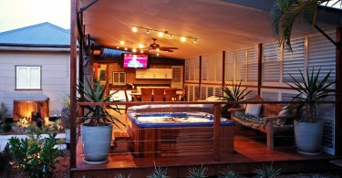 Photo of incredible outdoor man cave.