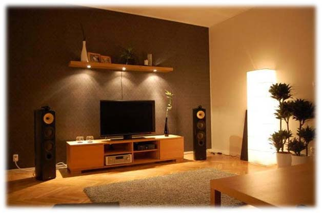 contemporary living room lighting. photo of a cool lighting in contemporary living room n