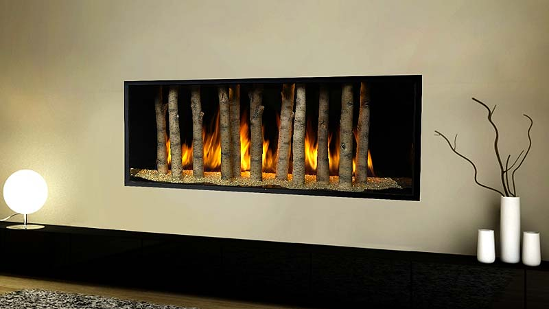 Photo of a gas fireplace