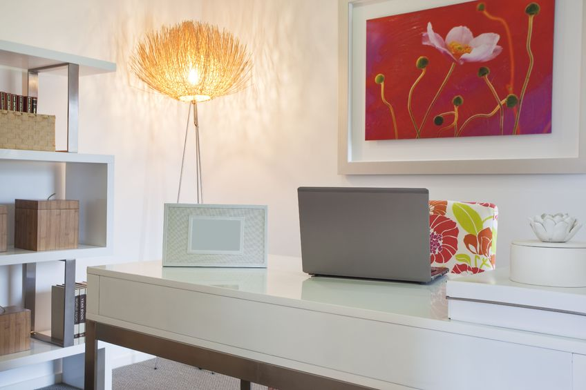 Photo of home office in modern townhouse