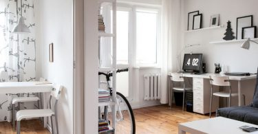 Photo of modern apartment interior in scandinavian style