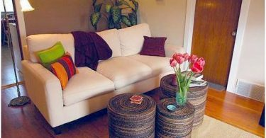 Photo example of throw pillows adding color to a space