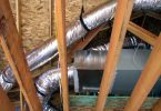 Photo of attic HVAC ducts