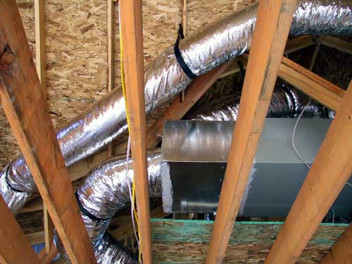 Photo of attic HVAC ducts for Install Ducting in My Home