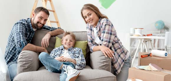 Photo of a family painting. Tips to Improve Your Property
