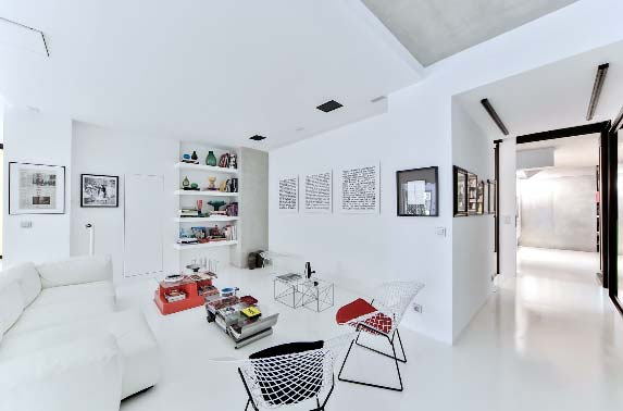 Photo of a modern room that needs color. Tips to Improve Your Property