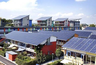 Future of Sustainable Housing must include solar energy as seen here.