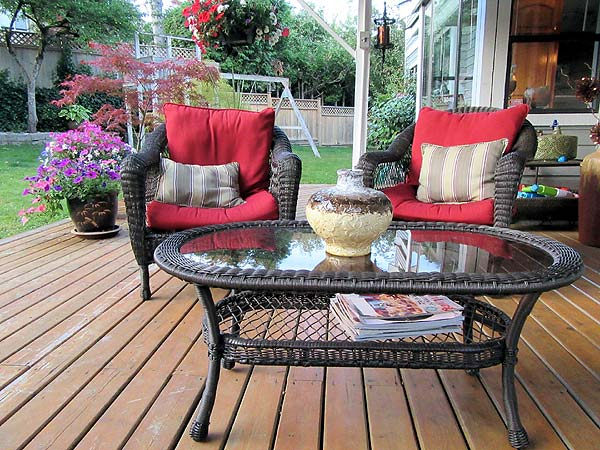 Photo of a home's backyard deck: Summer Home Improvement Ideas