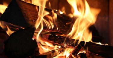 Photo of a fire in a fireplace