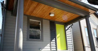 Photo of a cute modern home with a front porch