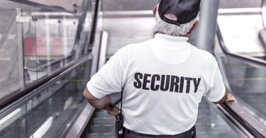 Photo of a security guard.