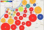 Louisville Days on Market Heat Map CDoM by ZIP Code - April 2018