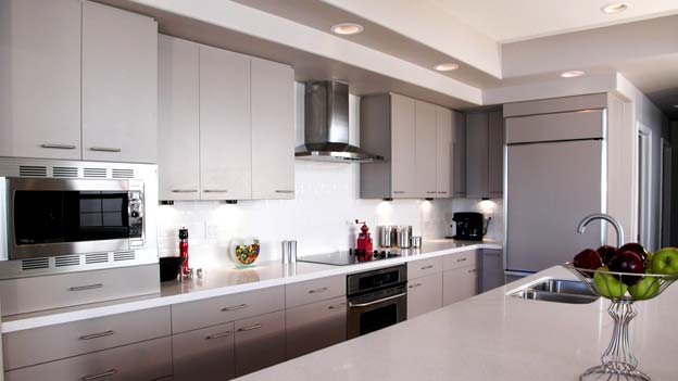 Photo of a kitchen - Matching Countertop and Backsplash: Up Your Kitchen's Style